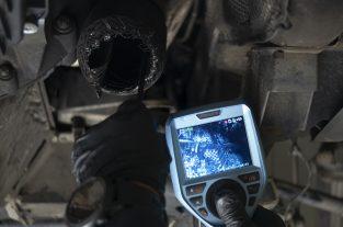 Badanie filtru DPF boroskopem Stando - film udostępniony klientowi do podjęcia decyzji w sprawie jego wymiany
