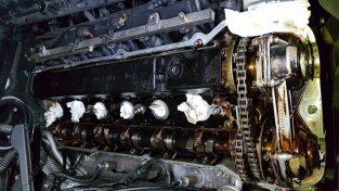 Uszkodzone vanosy silnika M54