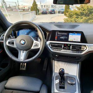 Duży ekran multimedialny wraz nawigacją nie pozwolą Ci się zgubić w tym BMW na ulicach Wrocławia